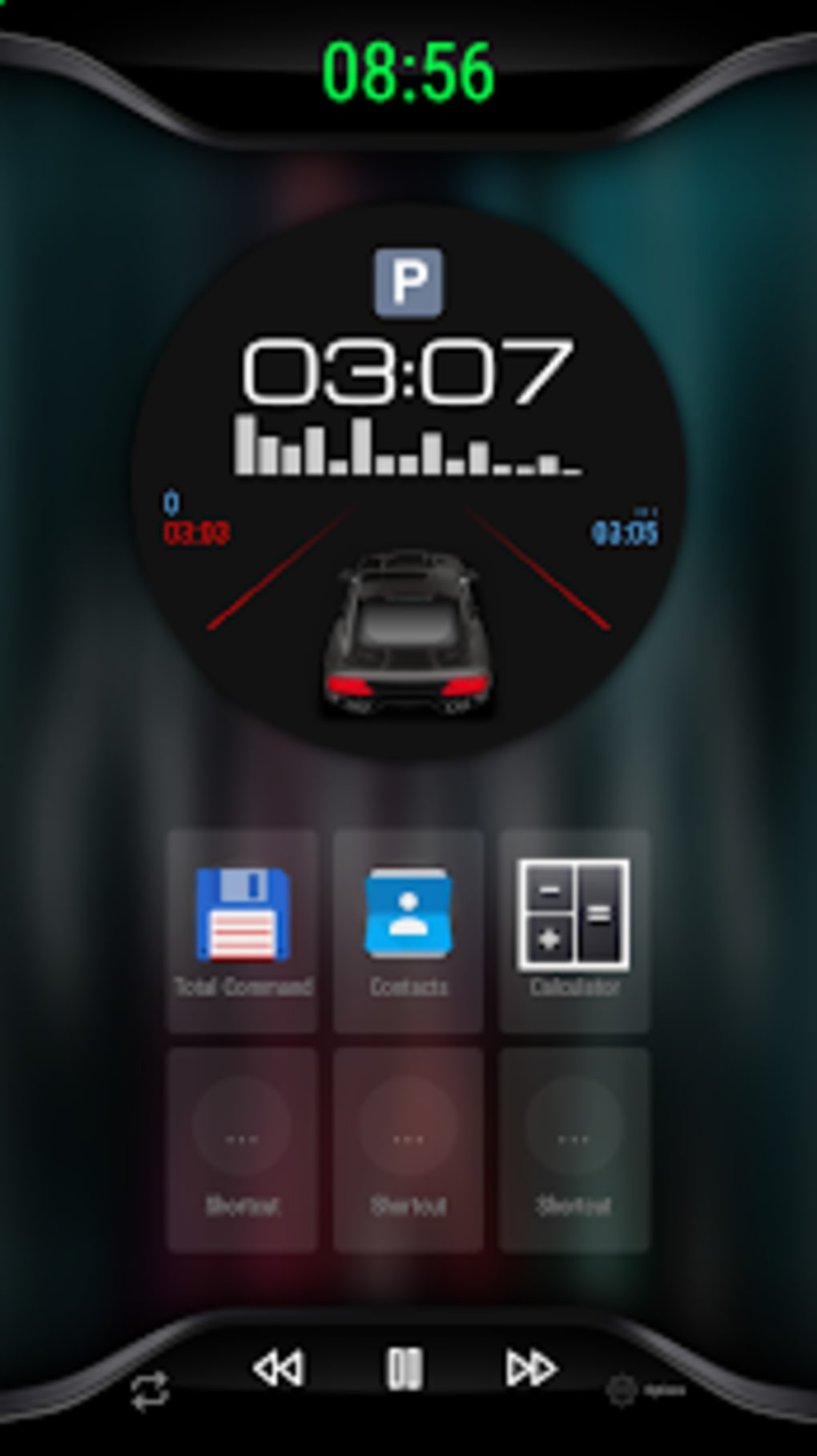 Black V3 - theme for CarWebGuru Launcher for Android - Download