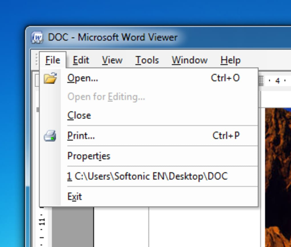 Microsoft Office Word Viewer PROS