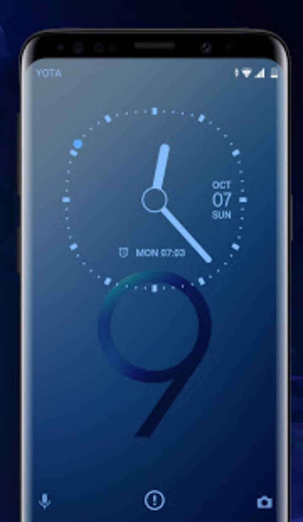 Galaxy S9 blue Xperia Theme for Android - Download
