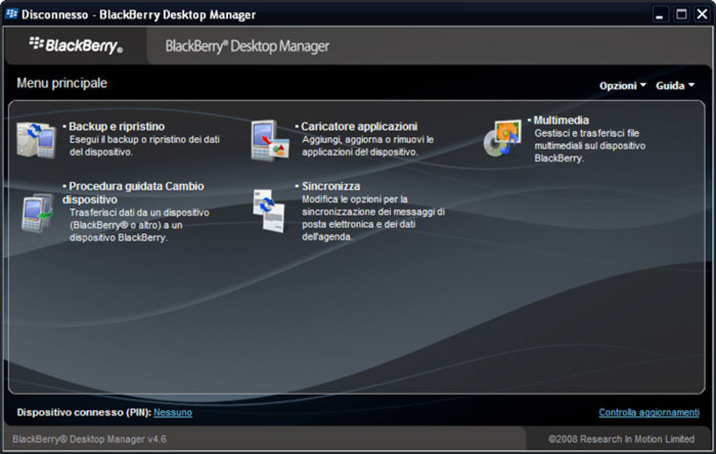Download BlackBerry Desktop Software 5.0.1.73 - Manage and transfer files between your Blackberry de