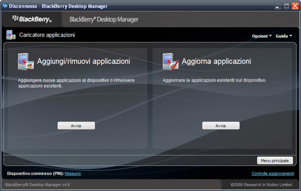desktop manager blackberry 7290