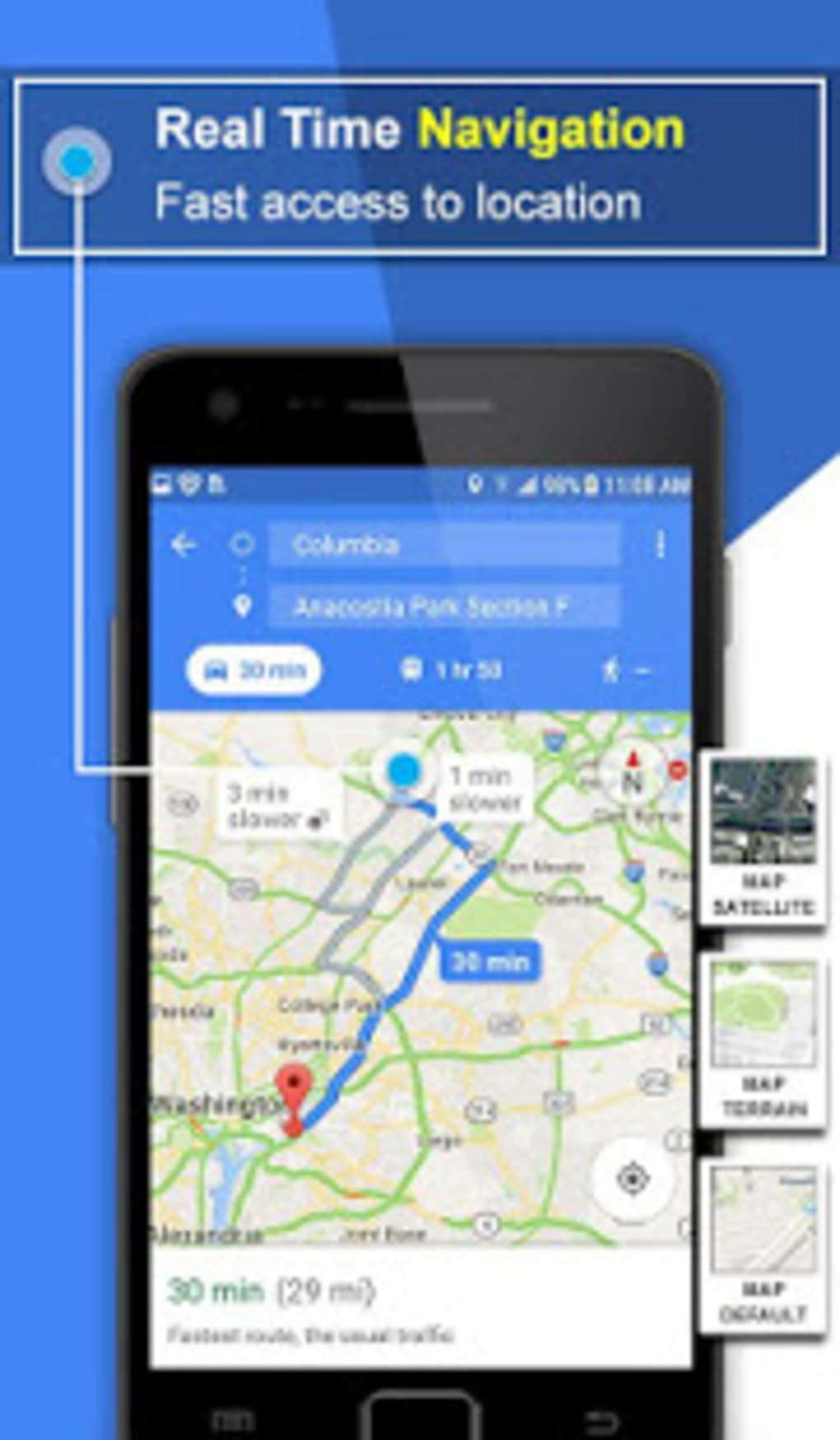 GPS Voice Navigation Route Finder- Speedometer for Android