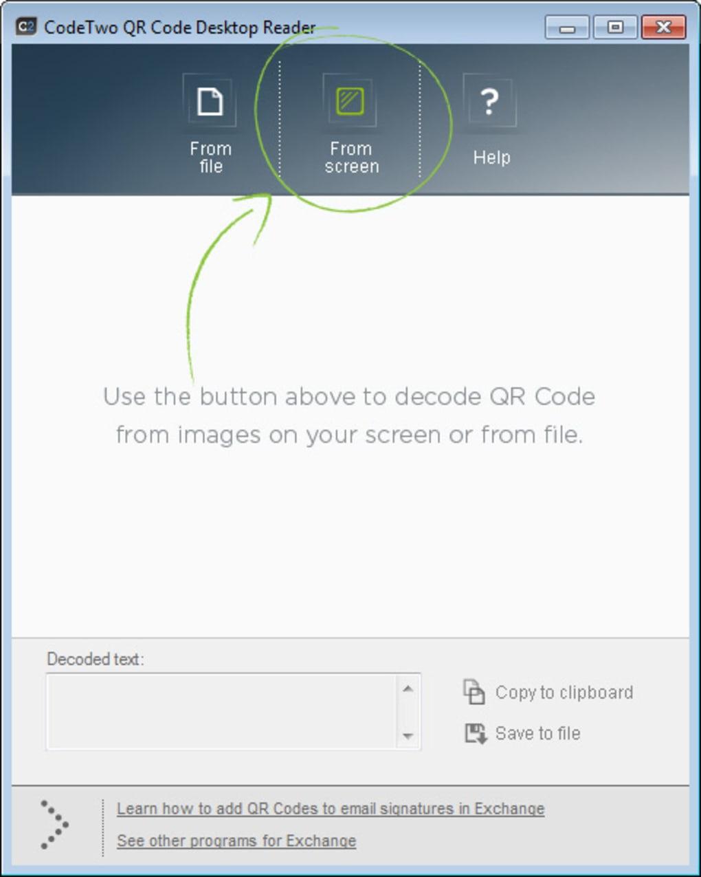 Code Two QR Code Desktop Reader - Descargar