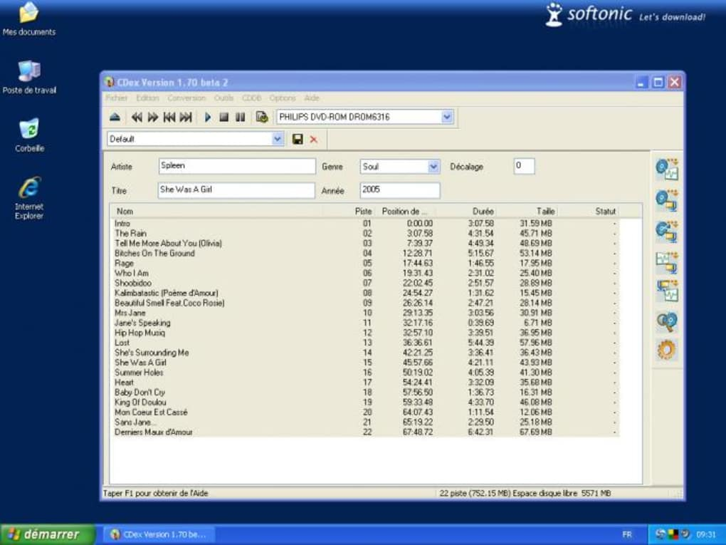 Télécharger cdex dernière version.