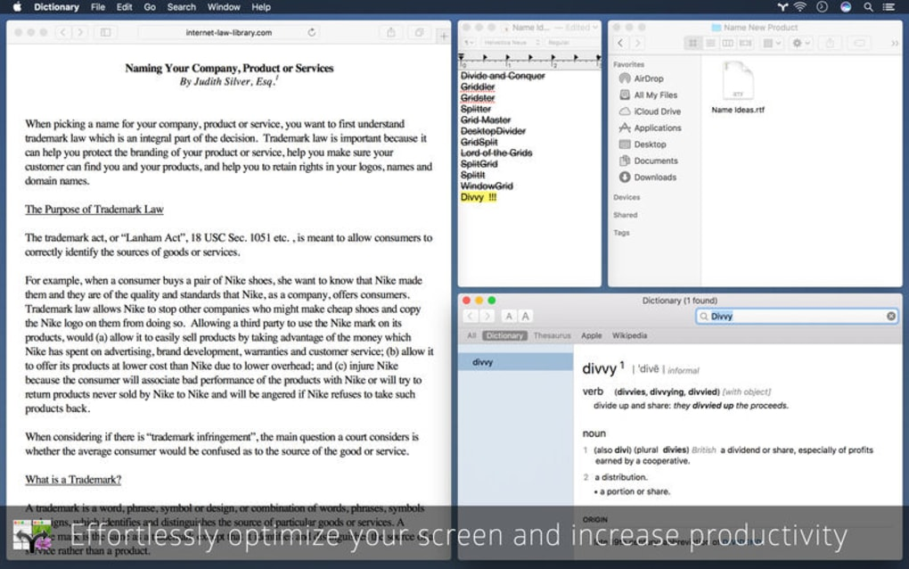 Divvy - Window Manager for Mac - Download