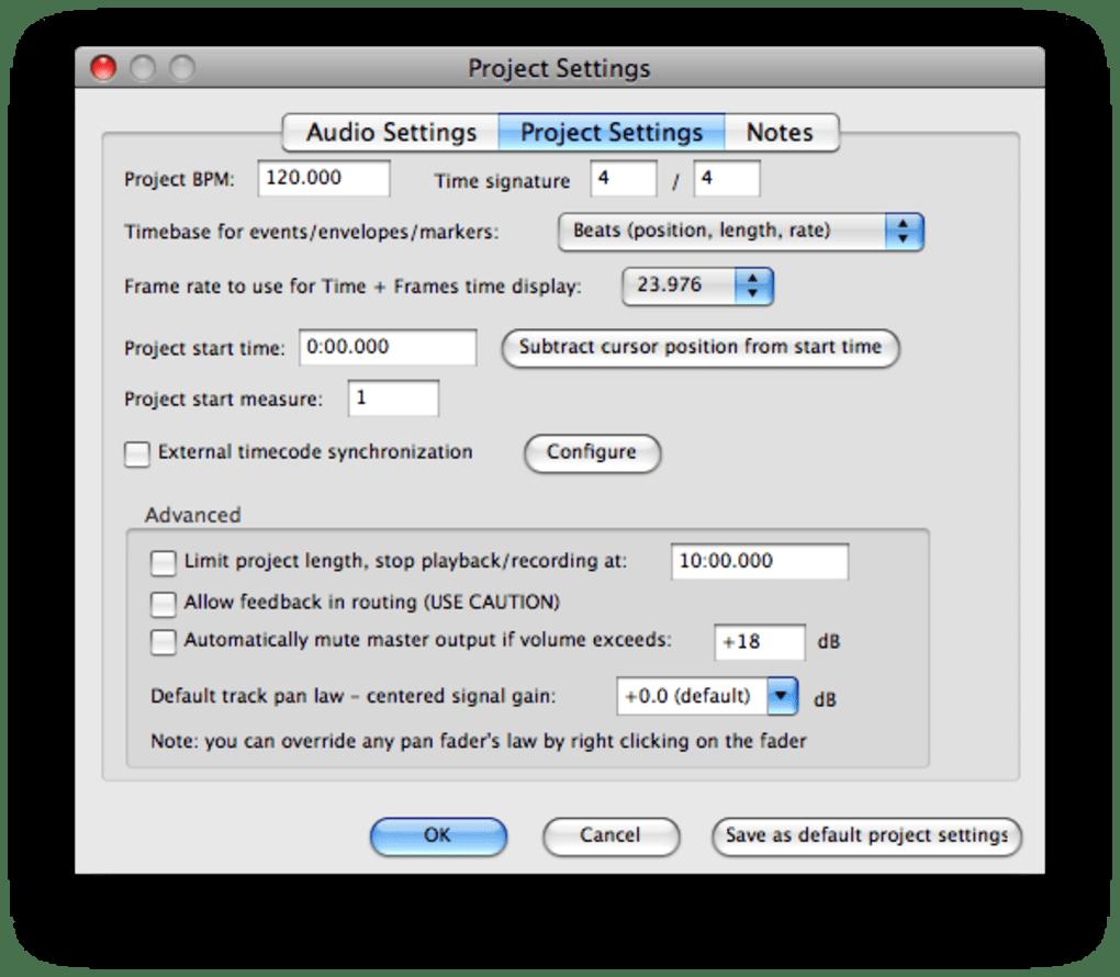 Reaper for Mac - Download
