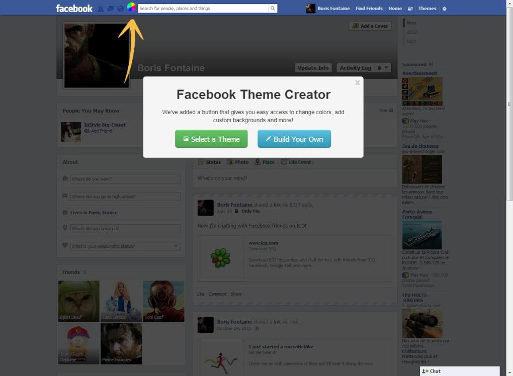 facebook theme creator ダウンロード