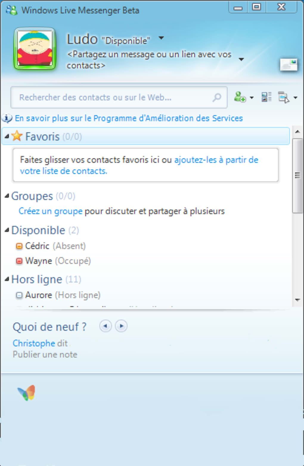 wlm 2009 pour xp