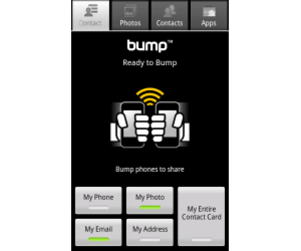 bump contacts from blackberry to iphone