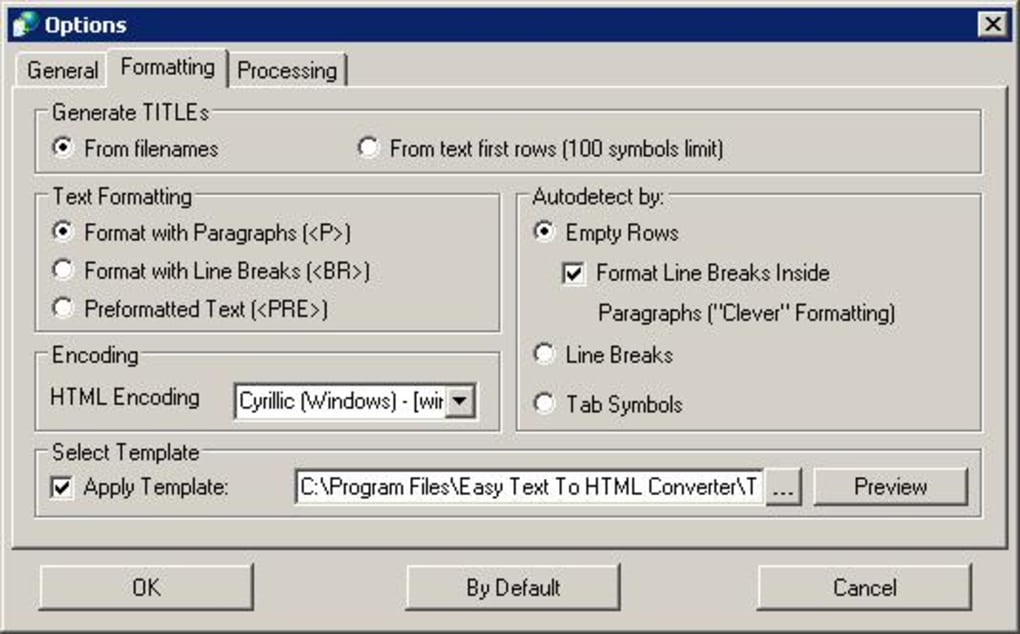Easy Text To Html Converter Download