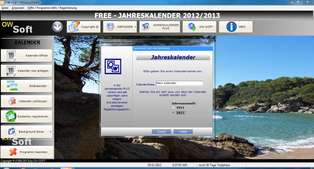Free jahreskalender 2014 download for Raumplaner software mac
