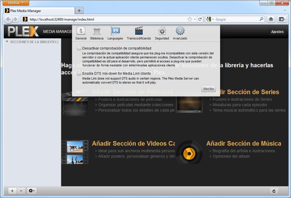 Plex Media Server - Descargar