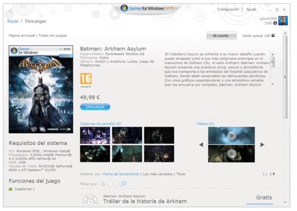 descargar windows live para juegos pc