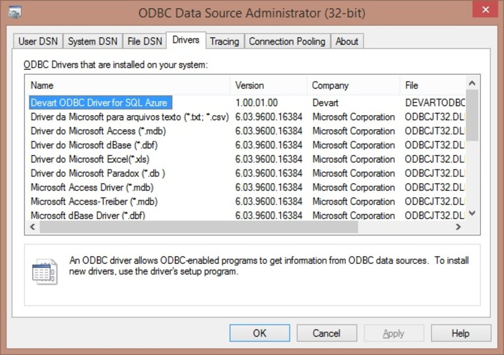 SQL Azure ODBC driver - Download