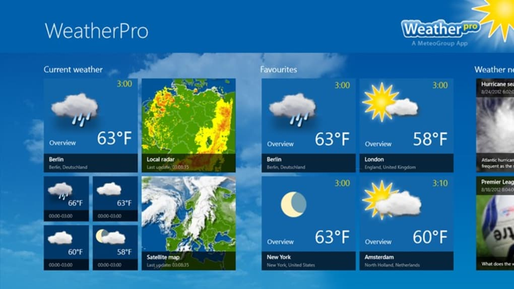 weatherpro for windows 10  windows