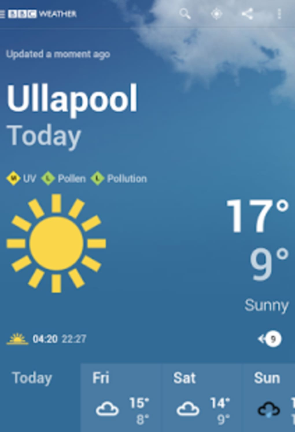 BBC Weather for Android - Download