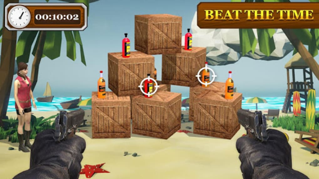 Bottle Shooting Game with Gun Real Bottle Shooter for