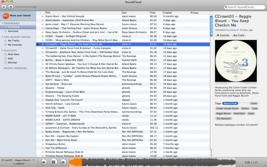 SoundCloud : sons & musiques pour Mac - Télécharger