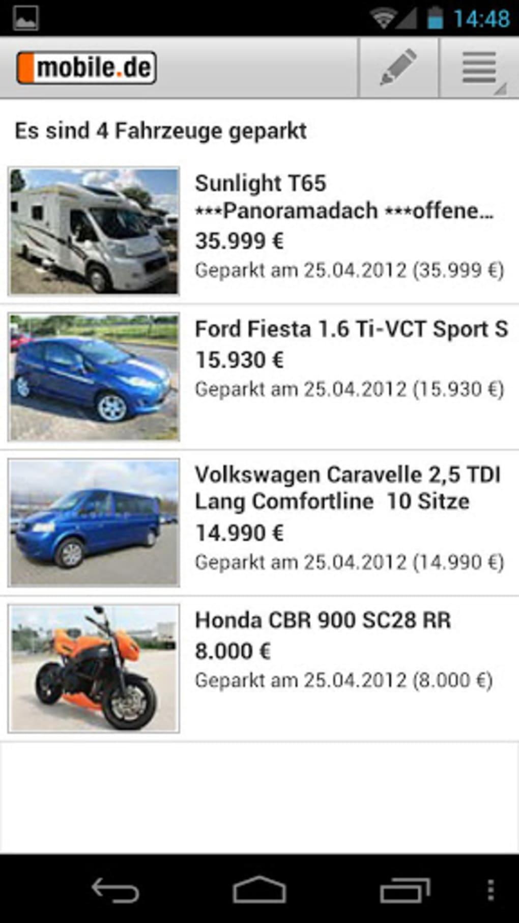 Mobilede Automarkt Für Android Download