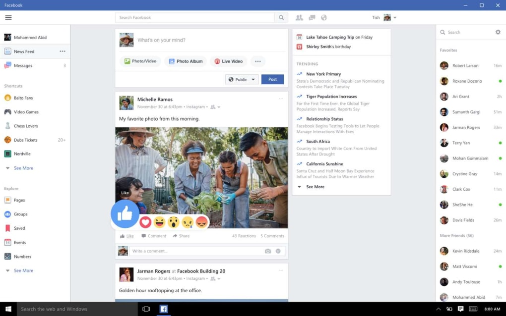 Facebook for Windows 10 (Windows) - Download