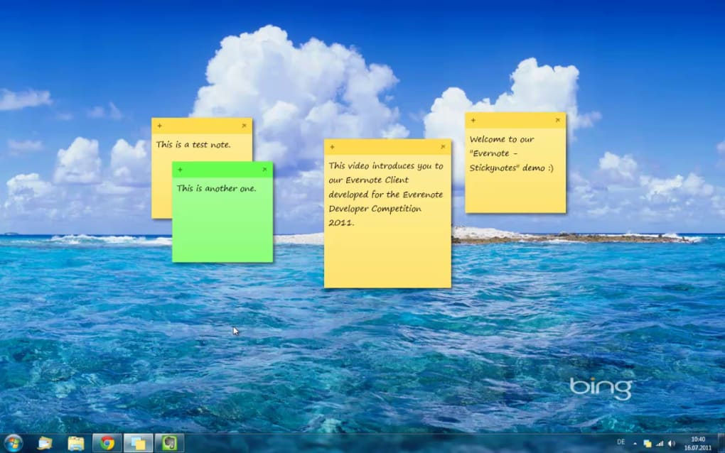 Free software to create sticky notes.