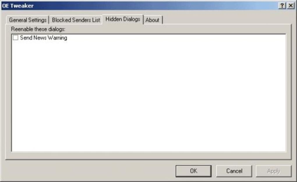 Outlook Express Tweaker - Download