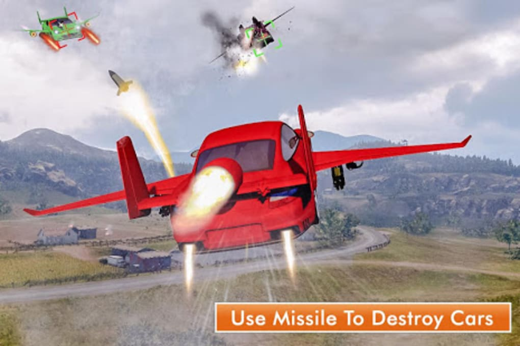Car Flying Shooting: New Flying Car Simulator 2019 for