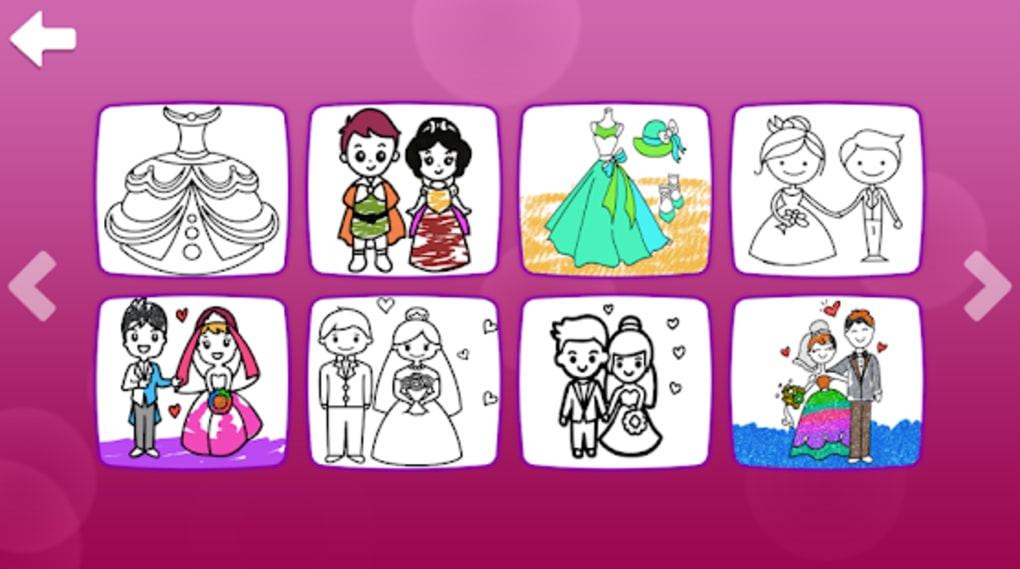 Glitter Wedding Coloring Book - Kids Drawing Pages für ...