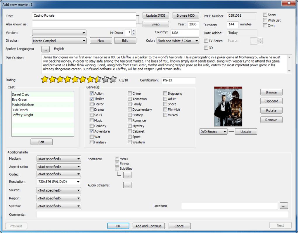 erics movie database mac