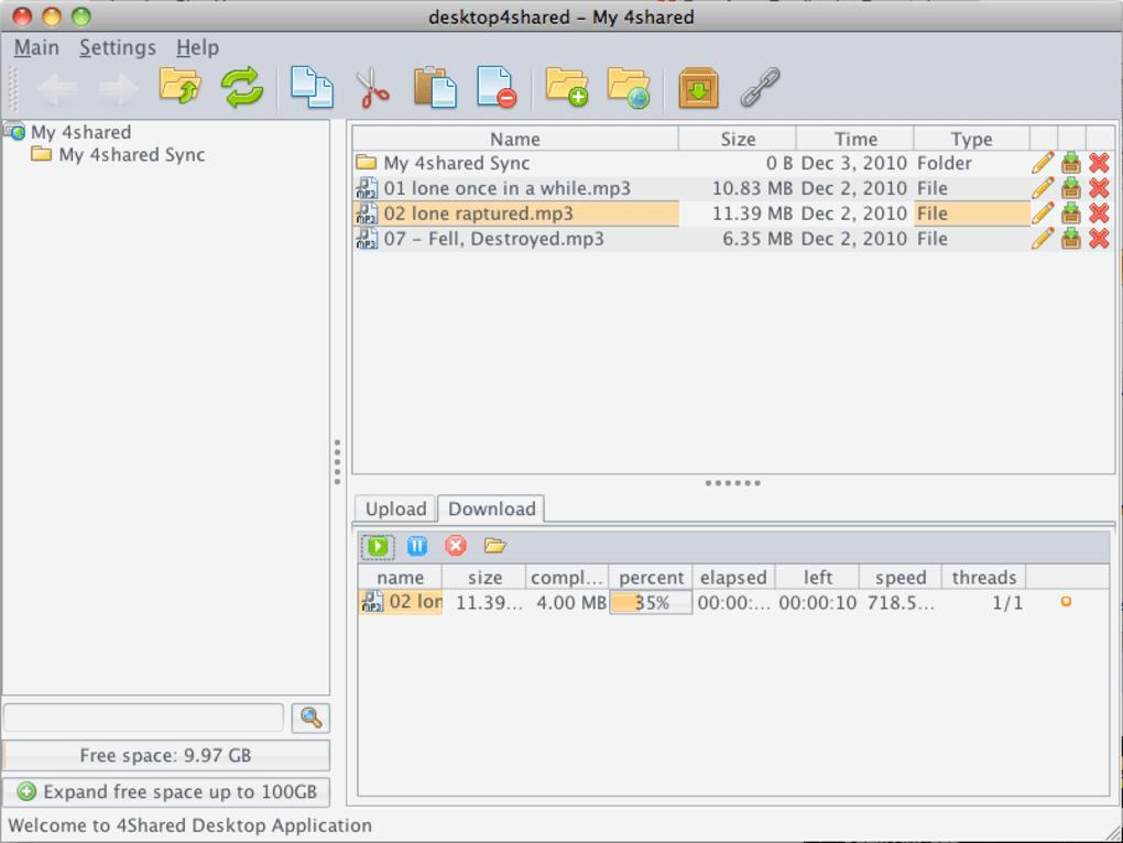 4Shared Desktop for Mac - Download