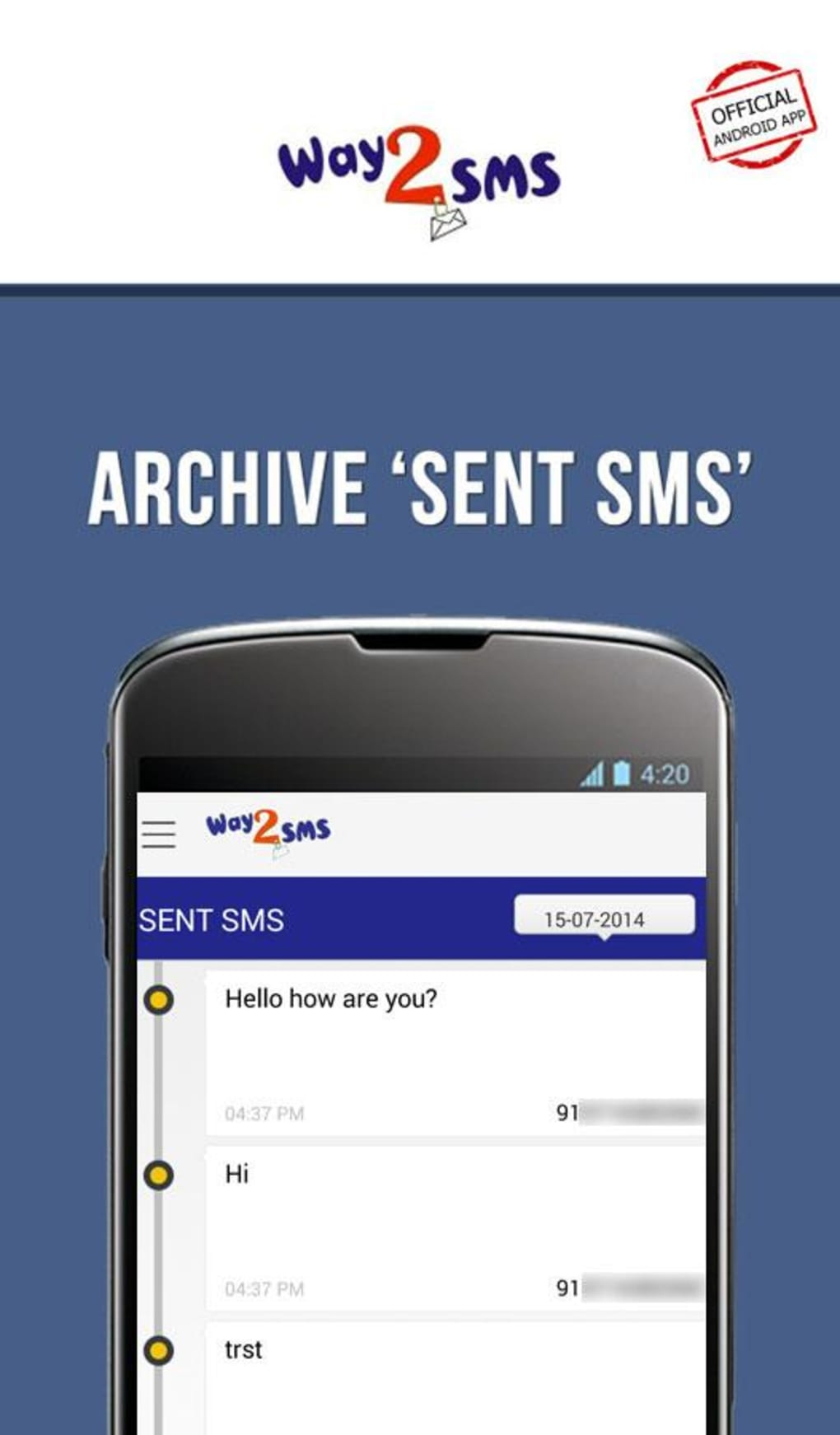 way2sms app download for blackberry