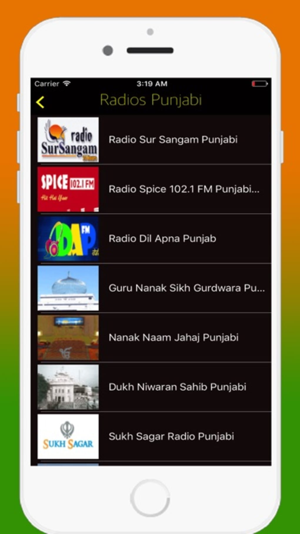 Radio India FM AM - Live Radio Stations Online for iPhone