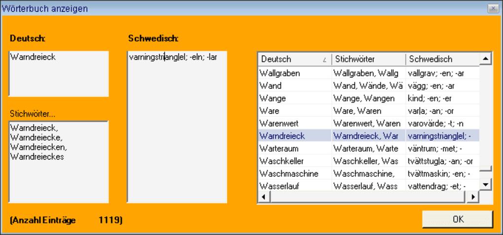 wörterbuch deutsch schwedisch