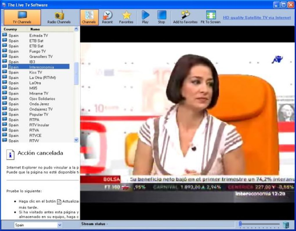 live streaming tv channels software free download