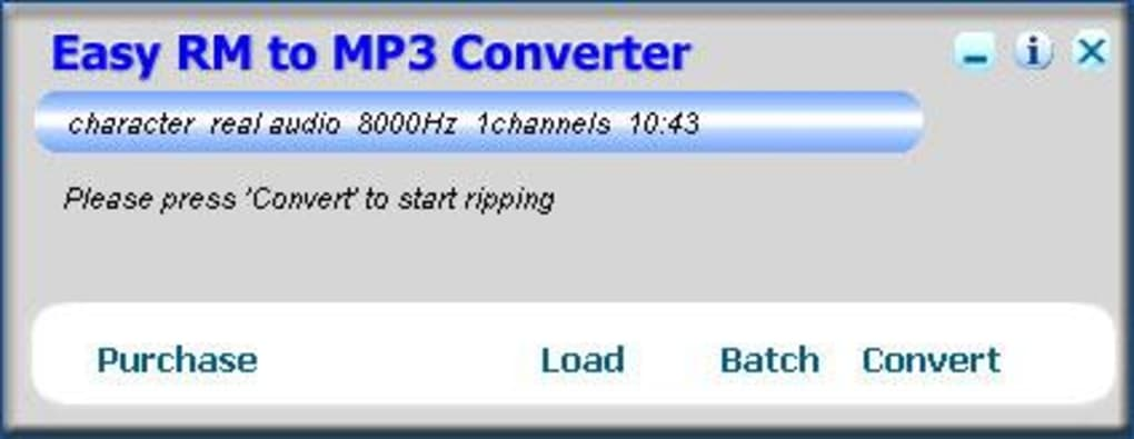 Easy RM to MP3 Converter - Download