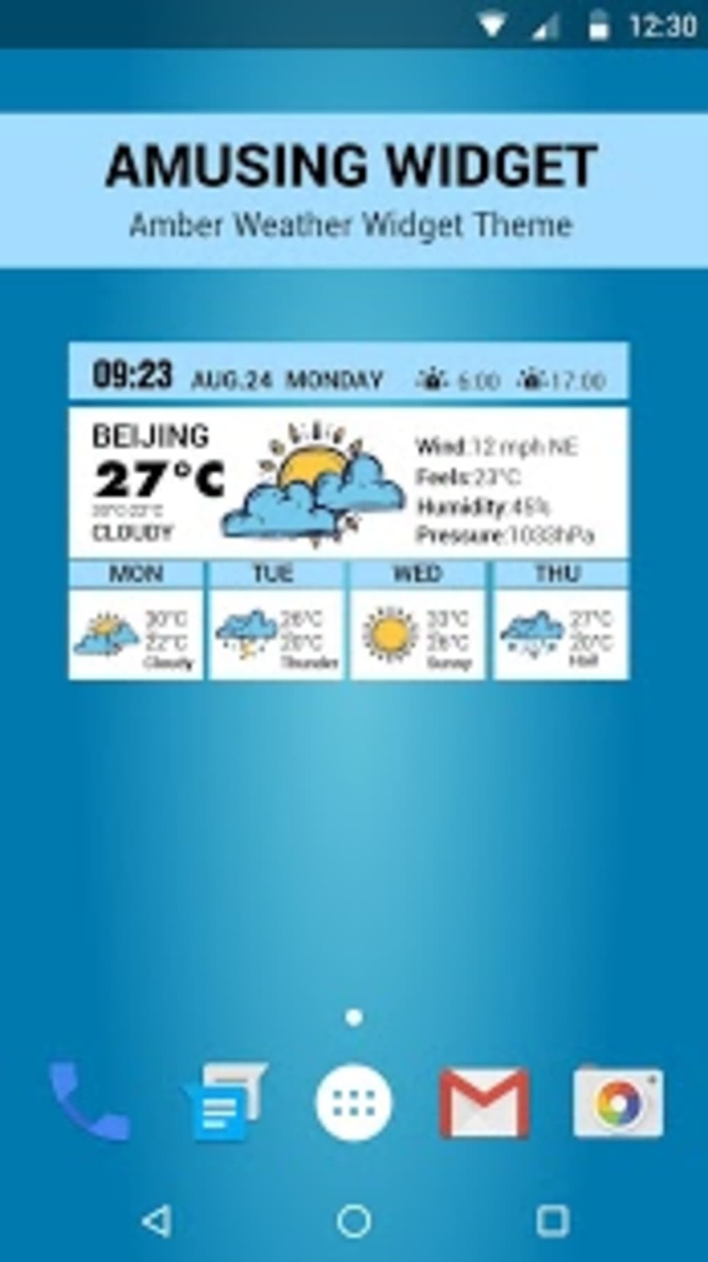 Amusing Clock & Weather Widget for Android - Download