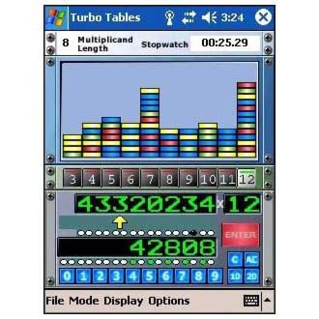 Turbo Tables Speed Math Multiplication for Pocket PC - Download