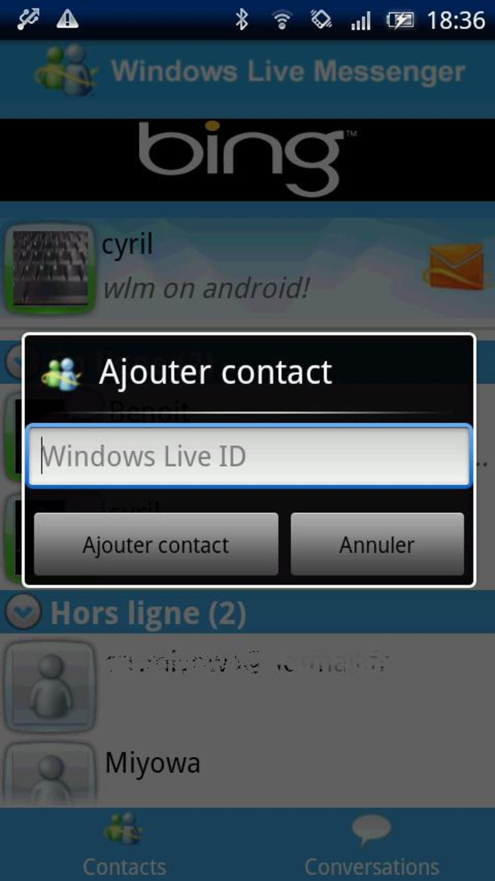telecharger msn messenger pour mobile android