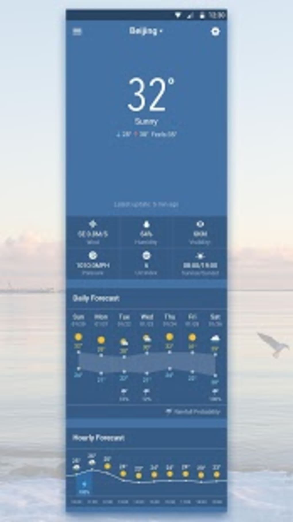 Clock & Weather Widget - Storm for Android - Download