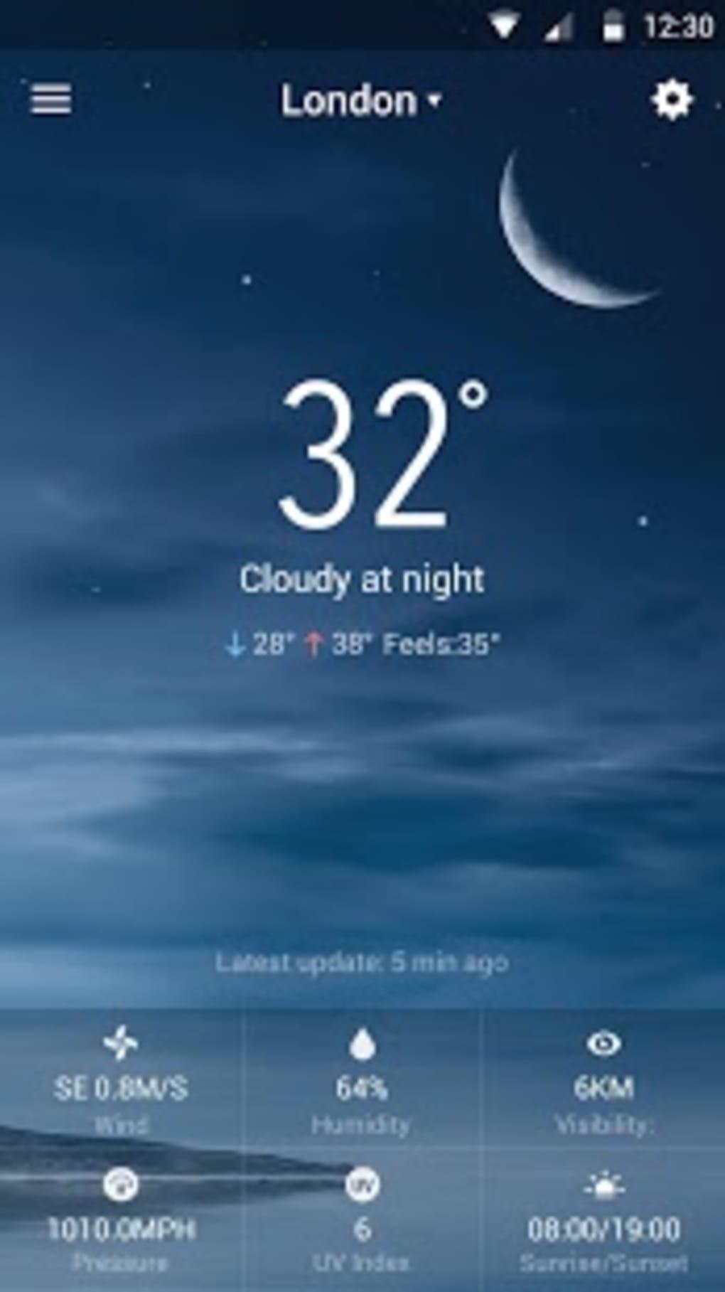 Clock & Weather Widget - Storm