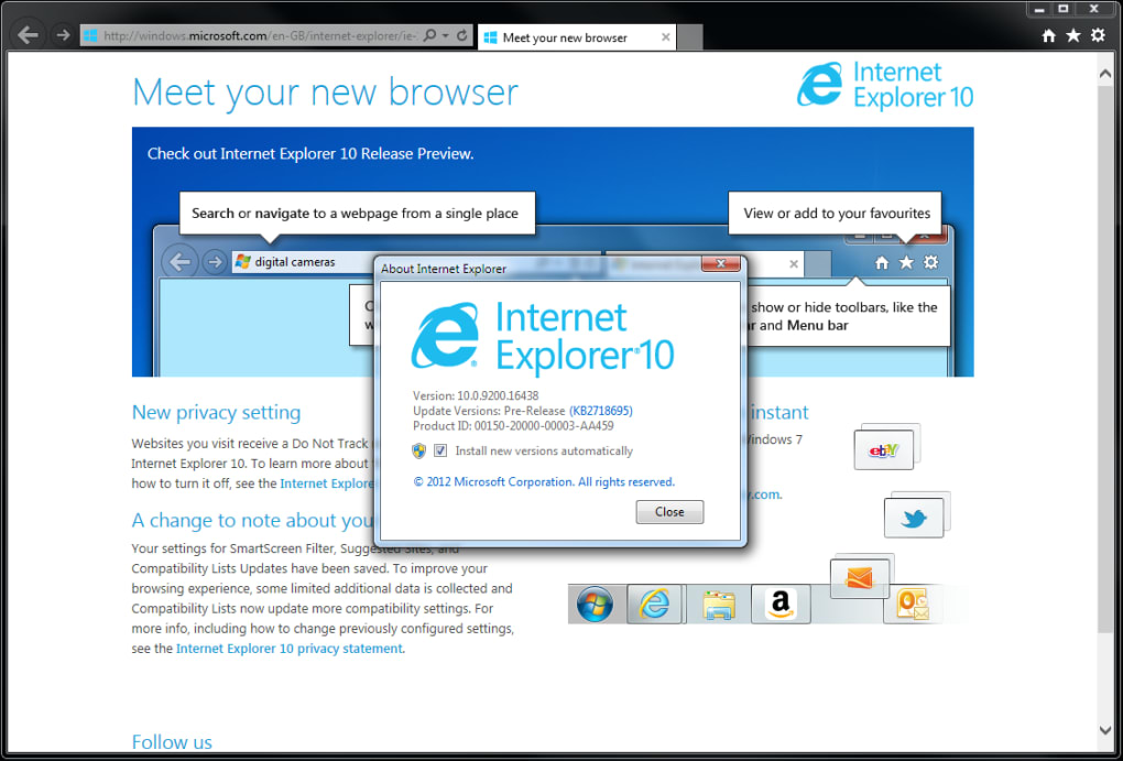 ie10 pour windows 7 32bit