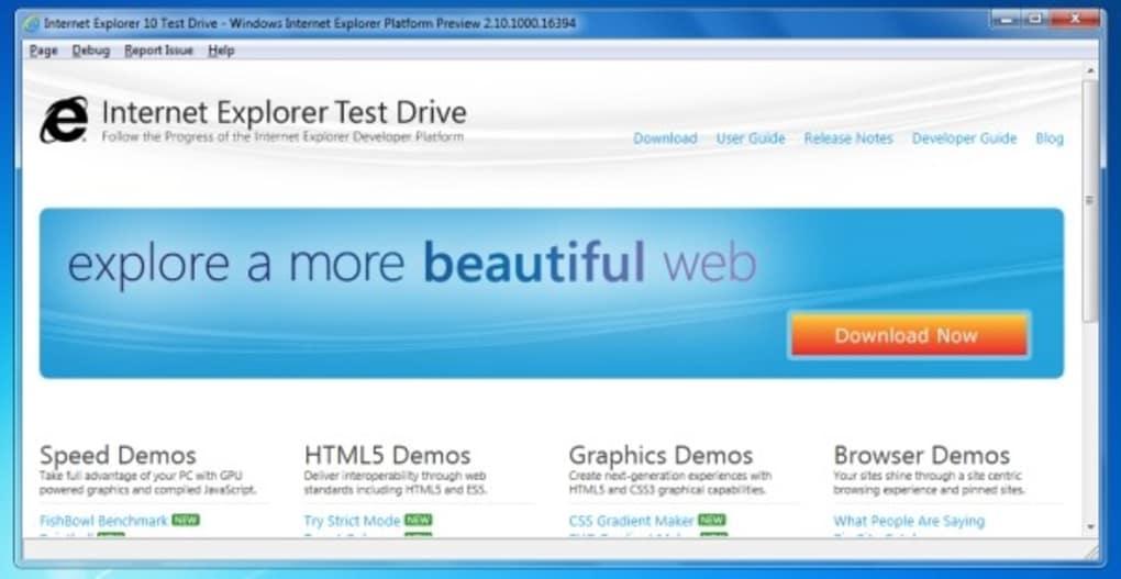 internet explorer 10 software free download