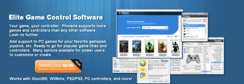 pinnacle game profiler ps3 controller