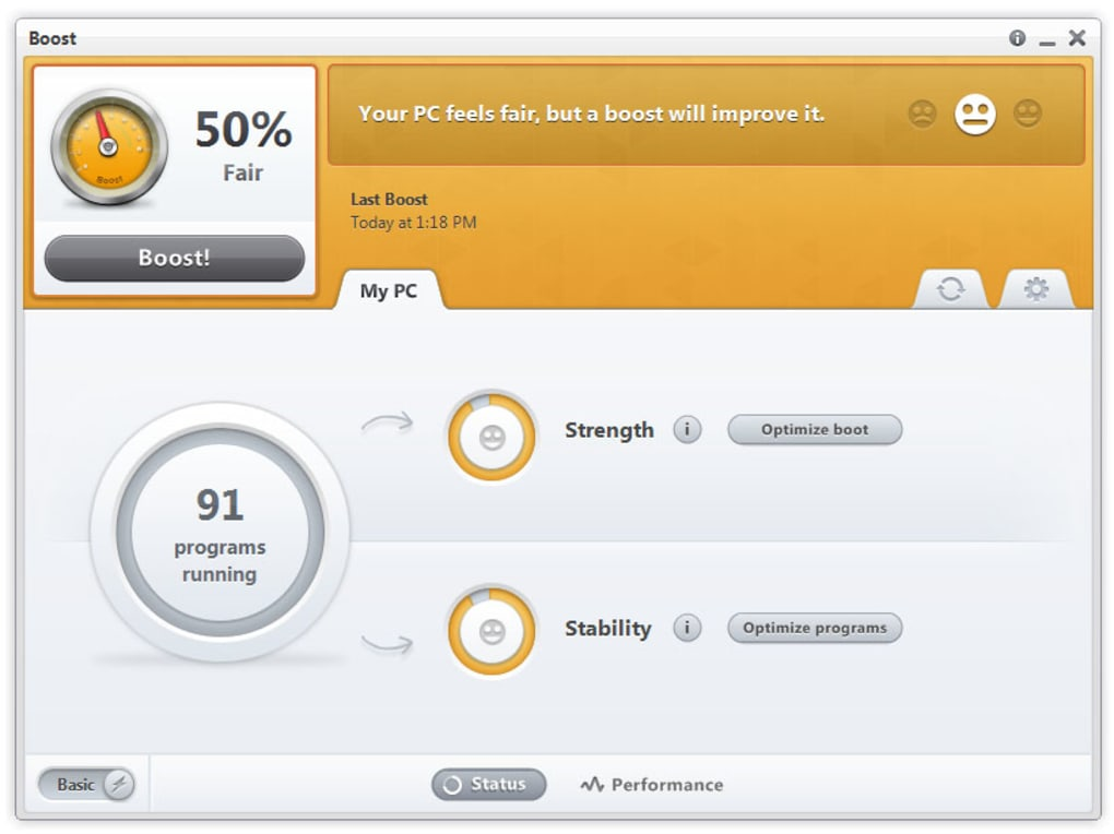 Boost - Speed up your PC - Download