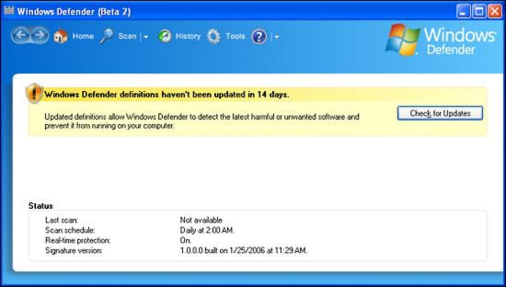 Windows defender for xp free download.