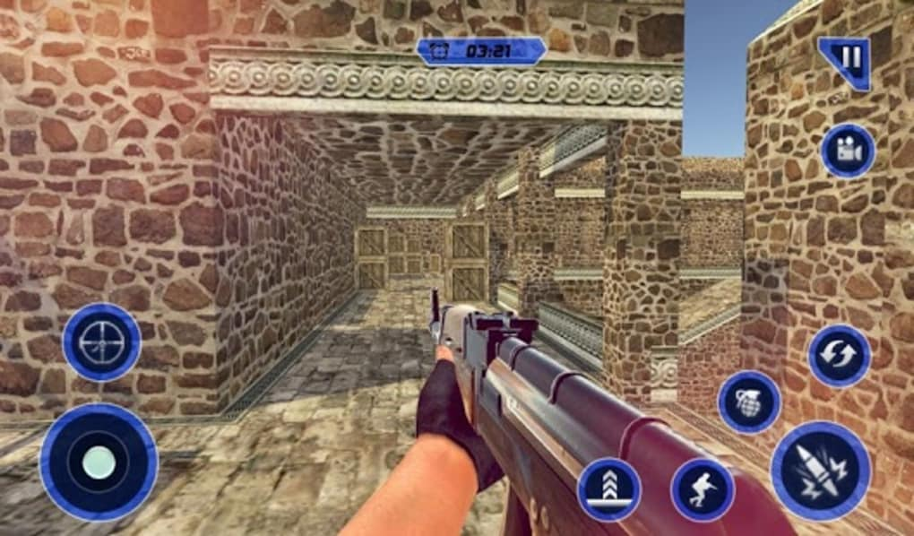 Counter terrorist 2 machine gun shooting strike for android download.