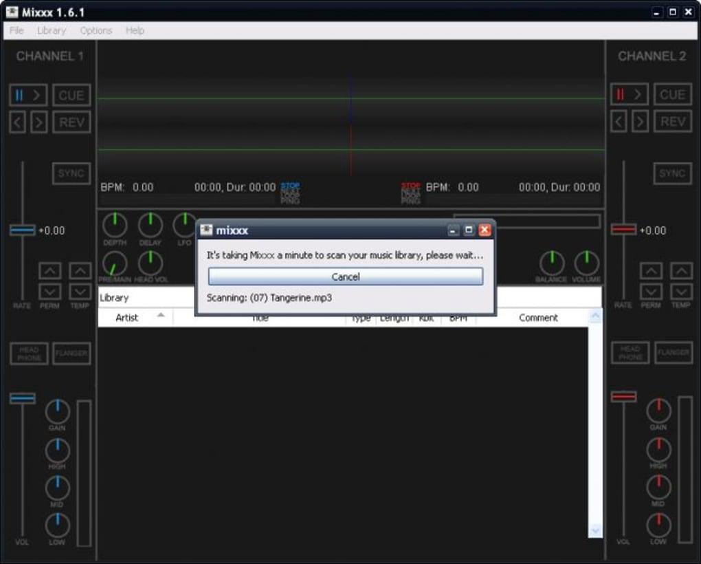 Téléchargement App Mixxxer branchement