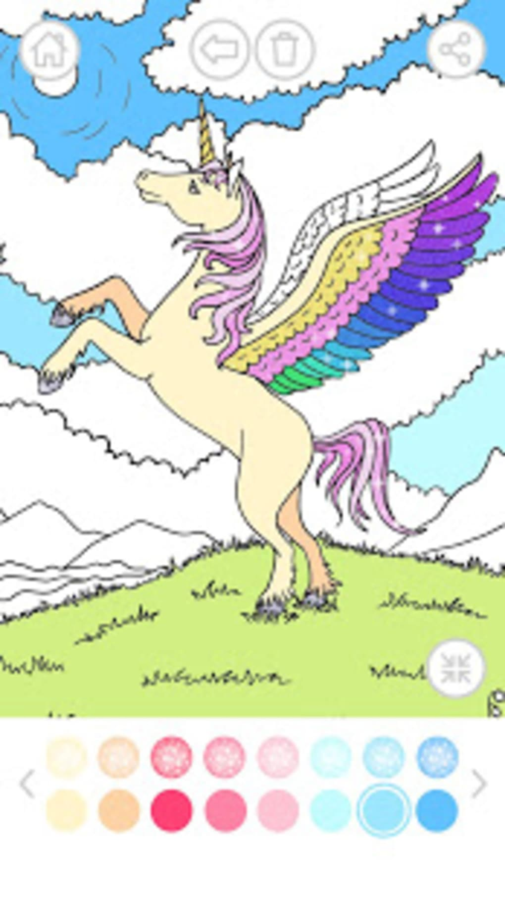 Unicorn Coloring Book Glitter For Android Download