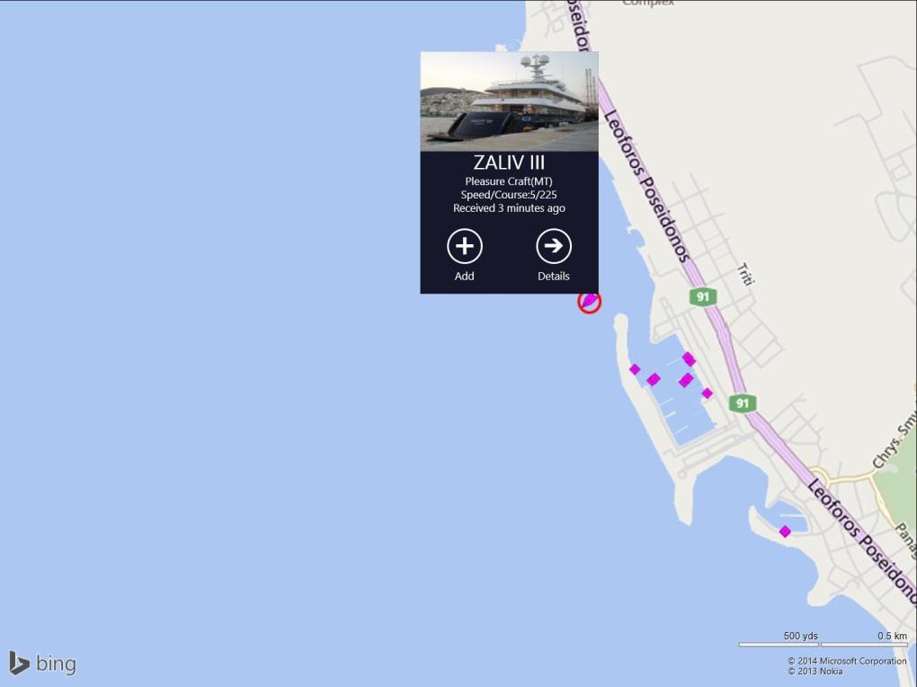 marinetraffic pour pc