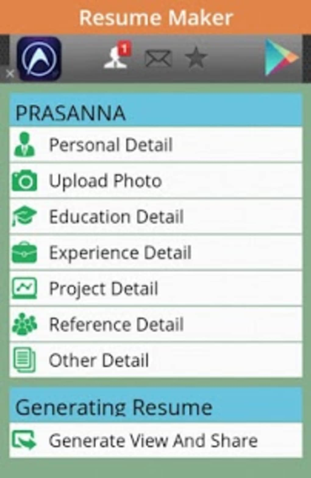 Free Resume Maker App For Android Download